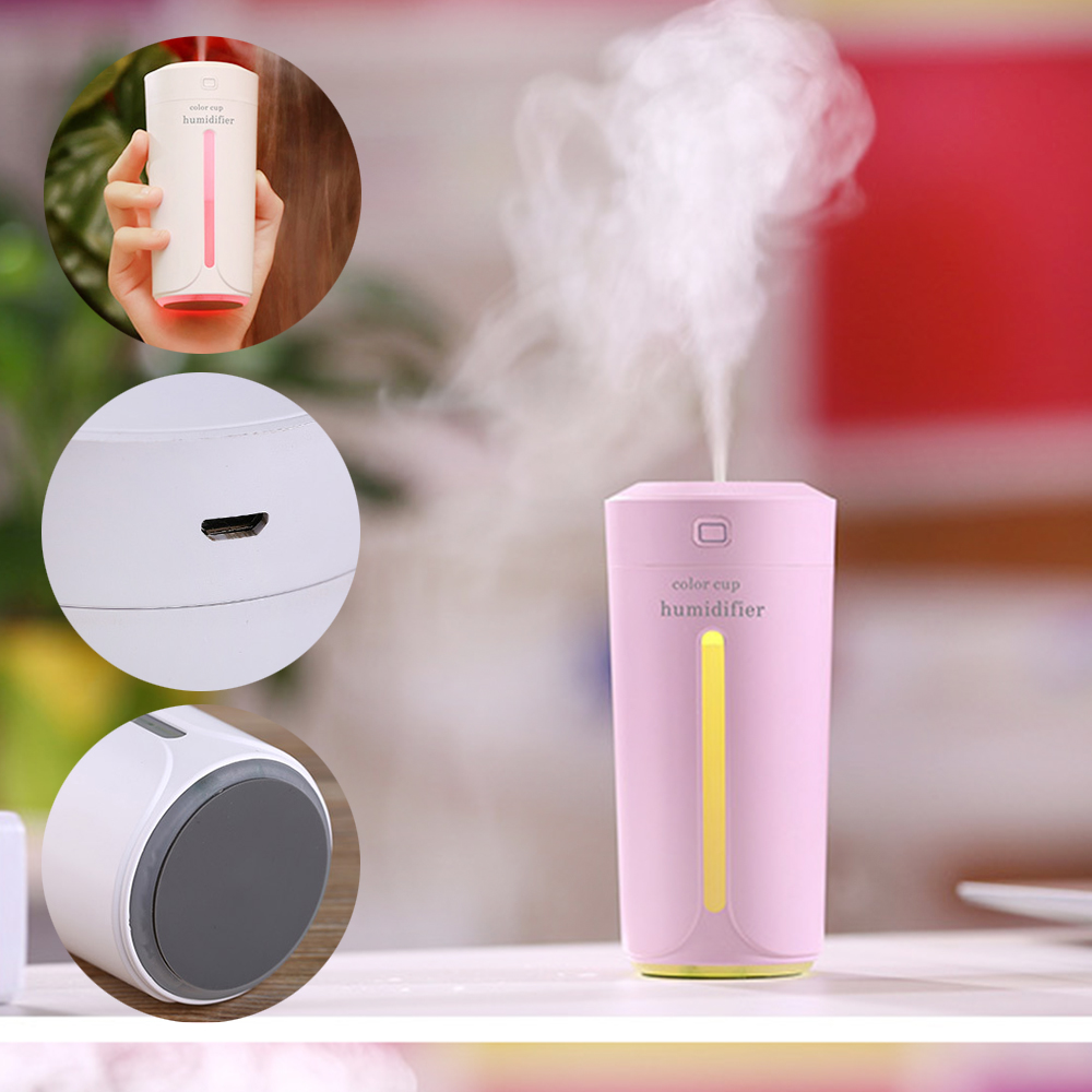 Air Humidifier Ultrasonic Air Purifier Essential Oil Diffuser Clean Air  Electric Aromatherapy USB Humidifier Office Car Aroma D