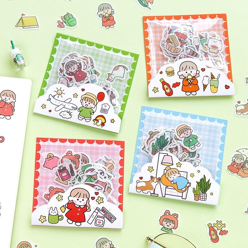 40pcs Cartoon Sticker Set Sweet Food Dessert Notes Journal Stationery Kawaii Girls Scrapbooking Diy Diary Album Stick Label