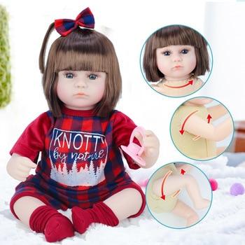 2020 New Hot 42cm Baby Reborn Dolls Soft Vinyl Toys For Girls Adorable Reborn Baby Girl Realistic Newborn Birthday Present Doll warkings reborn