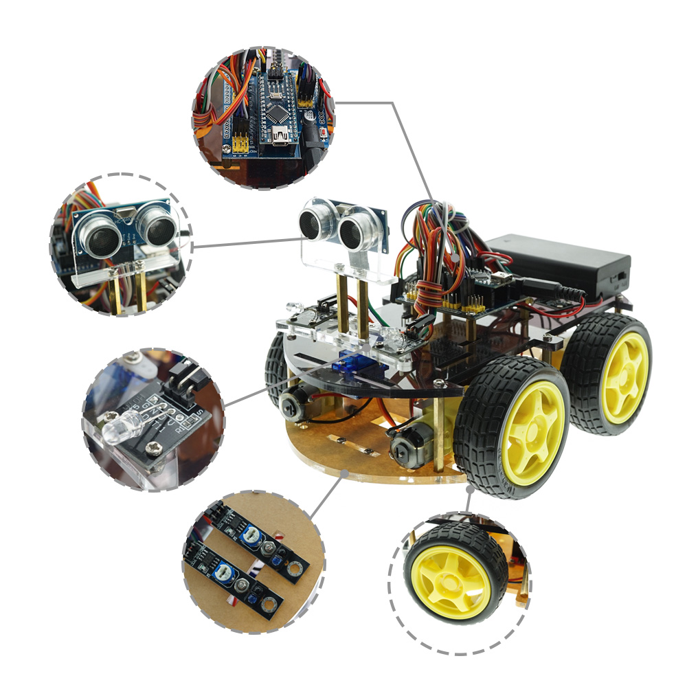 Intelligent Bluetooth Tracking/ Obstacle Avoidance Car With Arduino Nano
