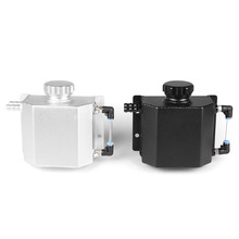1L Engine Oil Catch Can Alloy Aluminium Breather Tank Radiator Overflow Fuel With Lid Car Accessories