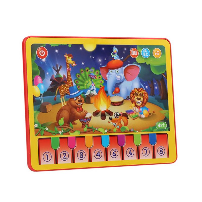 Early Education Puzzle Multi-function Toys Learning Machine ABS Multi-function Animal Performance Play Piano Children Tablet
