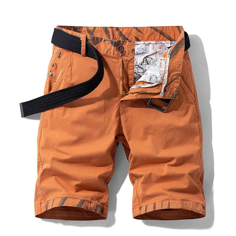Luulla Men Summer New England Style Painted Casual Cargo Shorts Men Fashion Premium Solid Color Short Pants Legwear Plus Size 38