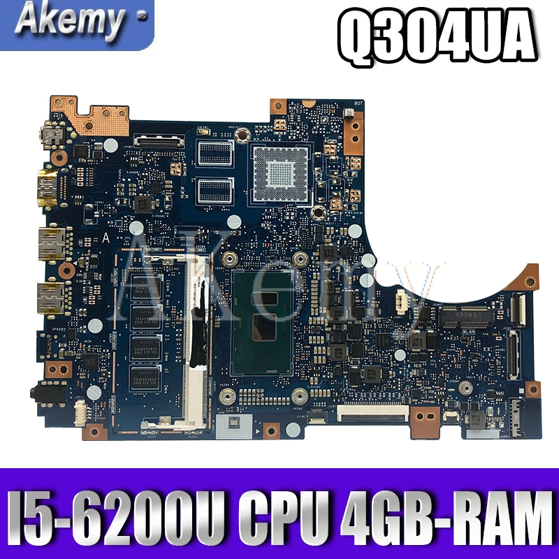 Akemy Q304UA mainboard For ASUS Q304U Q304UA Q304 laptop motherboard mainboard Tested Ok I5-6200U CPU 4GB-RAM image