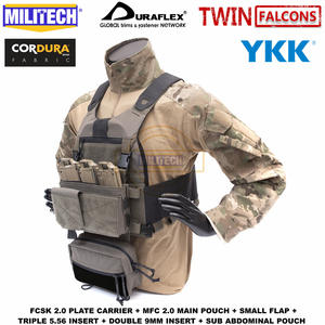 MILITECH Ferro-Plate-Carrier Fcsk-2.0 Slickster with MFC Main-Pouch And Sub Loadout-Set