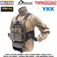 MILITECH TW FCSK 2.0 Advanced Slickster Mil Spec Plate Carrier With MFC 2.0 Main Pouch And Sub Abdominal Pouch Loadout Set Deal