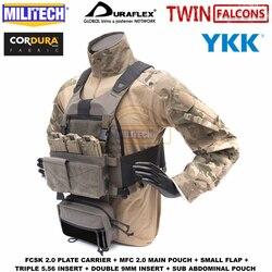 MILITECH TW FCSK 2,0 Erweiterte Slickster Ferro Platte Träger Mit MFC 2,0 Wichtigsten Beutel Und Sub Bauch Tasche Loadout Set deal