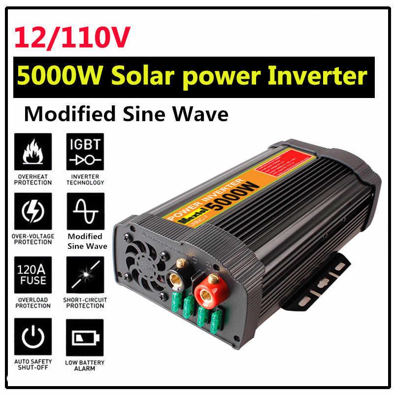 10000W güneş invertör UNNC-7 12V 110V modifiye sinüs dalga LCD gerilim trafosu USB güçler invertör dönüştürücü araba şarjı