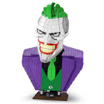 MOC Joker Bust DC inJustice League Action Figures super hero Technic remote control Power Building Block Brick Toy children Gift lepin 06052 1010pcs ninja super hero explosive device hulkbuster building block compatible 70615 brick toy