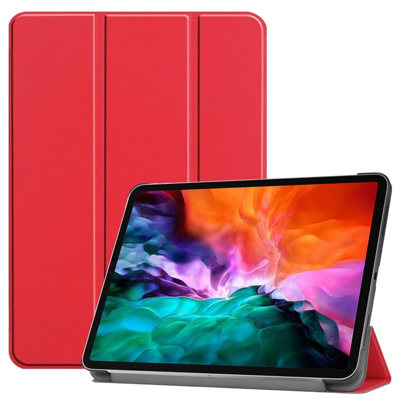 for PC For 9 Funda Smart Leather 2021 Stand Pro 2021 iPad iPad Pro Hard Cover PU Case Back A2461 2020 12 Folding 2018 12.9 Case