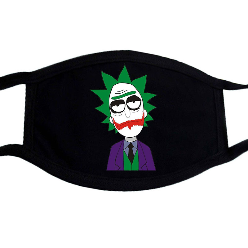 Rick And Morty Joker Anime Dragon Ball Funny Mask Fashion Mouth Masks Cosplay Cotton Face Mask Anti Dust Filter Muffle Masks