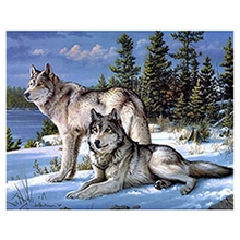 Diamond Painting Embroidery 5D Diy Full Square Animals Wolf - Mosaic Daimond Drill