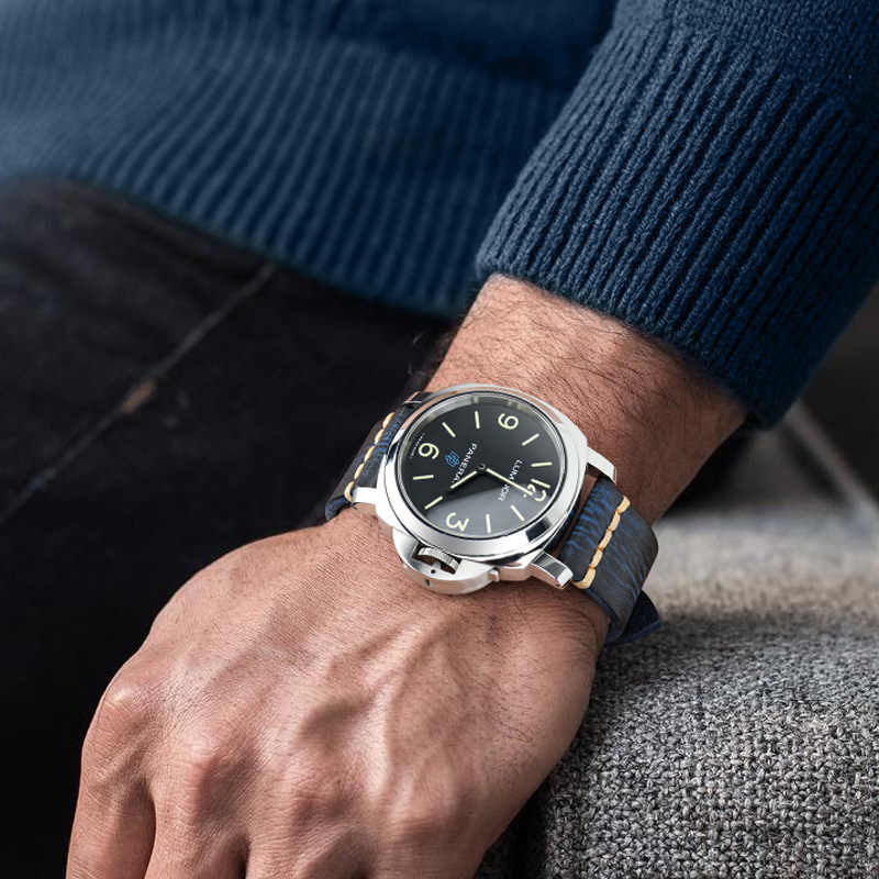 Maikes artesanal pulseira de relógio couro genuíno do vintage masculino 20mm 22mm 24mm para panerai fossil casio seiko