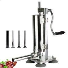 3л Вертикальная ручная нержавеющая сталь колбаса машина для наполнения колбасы наполнителя мяса инструменты