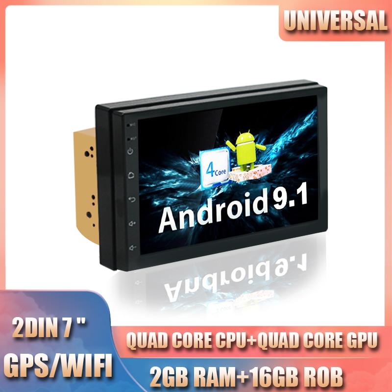 2DIN 2G + 16G Universal Auto GPS Radio Player Android 9.1 IPS bildschirm Navigation Multimedia Bluetooth
