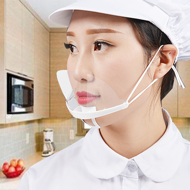 10 Pcs-60 Pcs Transparent Sanitary Open Mask For Full Face Protection Food Truck Makeup  Plastic Work Face Mouth Protective Mask 1