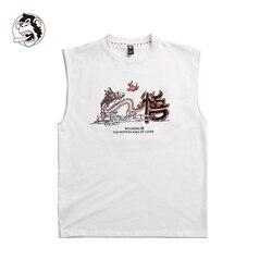 Mannelijke Mouwloos vest Skateboard Tees Zomer Jongens Skate T-shirt Tops 100% katoen Mannen Rock Hip hop Street wear Fashion T-shirt