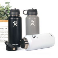 Stainless Steel Water Bottle Hydro Flask Water Bottle Vacuum Insulated Wide Mouth Travel Portable Thermal Bottle 18oz/32oz Water Bottles Home & Garden -