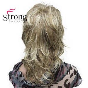 Image 3 - StrongBeauty sarışın vurgulanan uzun yumuşak katmanlı sevişmek sentetik peruk kadınlar için