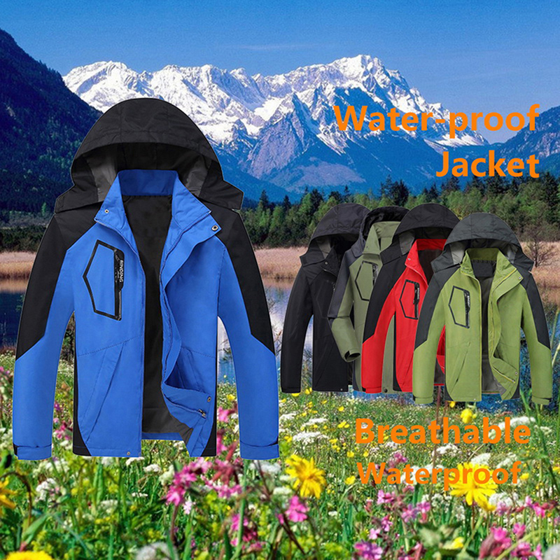Autumn Men Outdoor Waterproof Jacket Camping Hiking Hunting Climbing Rain Fishing Sport Windbreaker Men's Packable Down Jacket