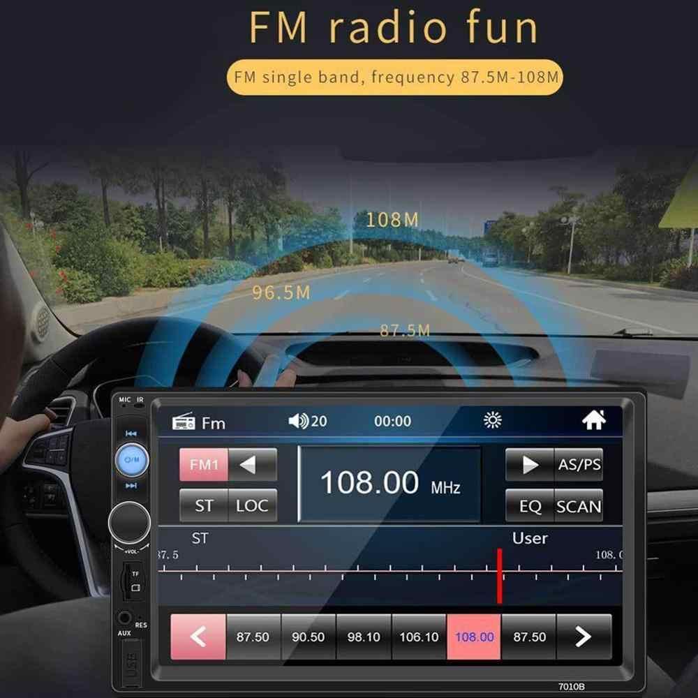 أفضل 7010B 2 الدين سيارة الوسائط المتعددة مشغل الصوت راديو ستيريو 7 بوصة شاشة HD MP3 MP4 لاعب دعم بلوتوث كاميرا FM
