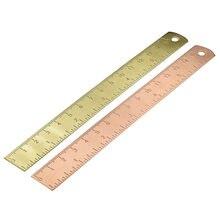 15 см латунная прямая Линейка для офиса школы канцелярские принадлежности