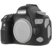 цена на For Canon 6D2 Silicone Camera Protective Case for Canon 6D MARK II 6DII 6D2 Litchi Texture Non-slip Camera Protector Cover