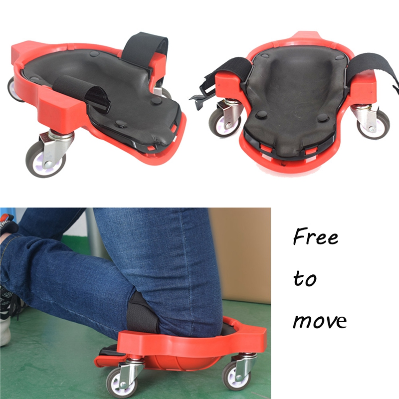 1Pcs Wheel Kneeling Pad Rolling Knee Protection Pad With Wheel Built In Foam Padded Laying Platform Universal