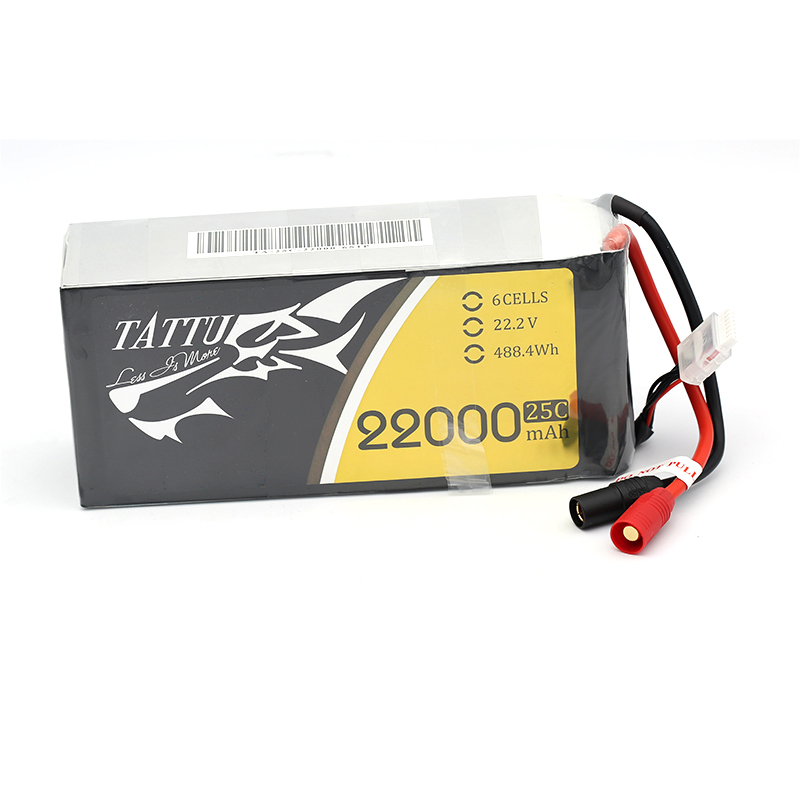 1pc TATTU <font><b>22000mAh</b></font> 22.2V <font><b>6S</b></font> <font><b>LiPO</b></font> Battery Burst 25C for Big Load Multirotor FPV Drone Hexacopter Octocopter image