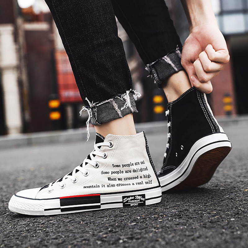 Man Fashion Vulcanize Shoes Boys 2020 New Casual Colorblock Comfortable Breathable Footwear Sewing Lace Up The Man Plus Size