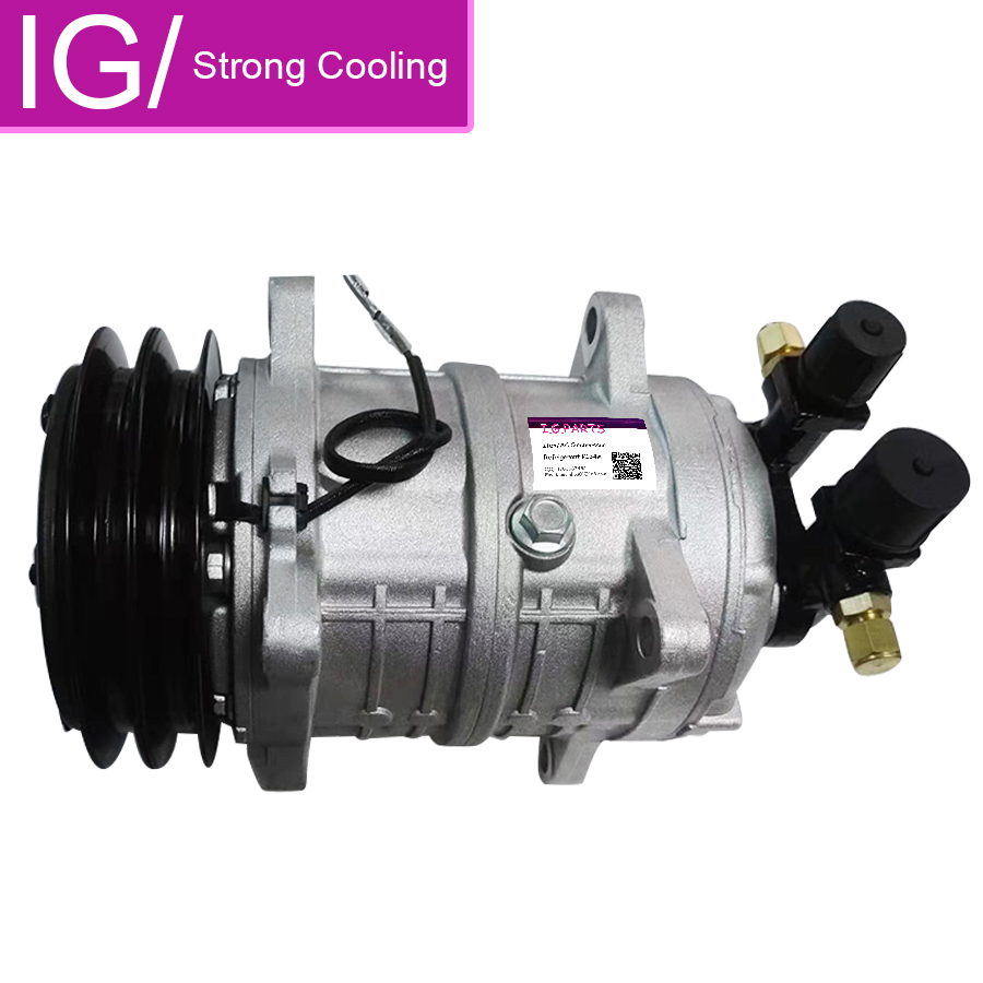 New A//C AC Compressor TM15 Replaces 10355011 48845011 With Two Grooves Pulley