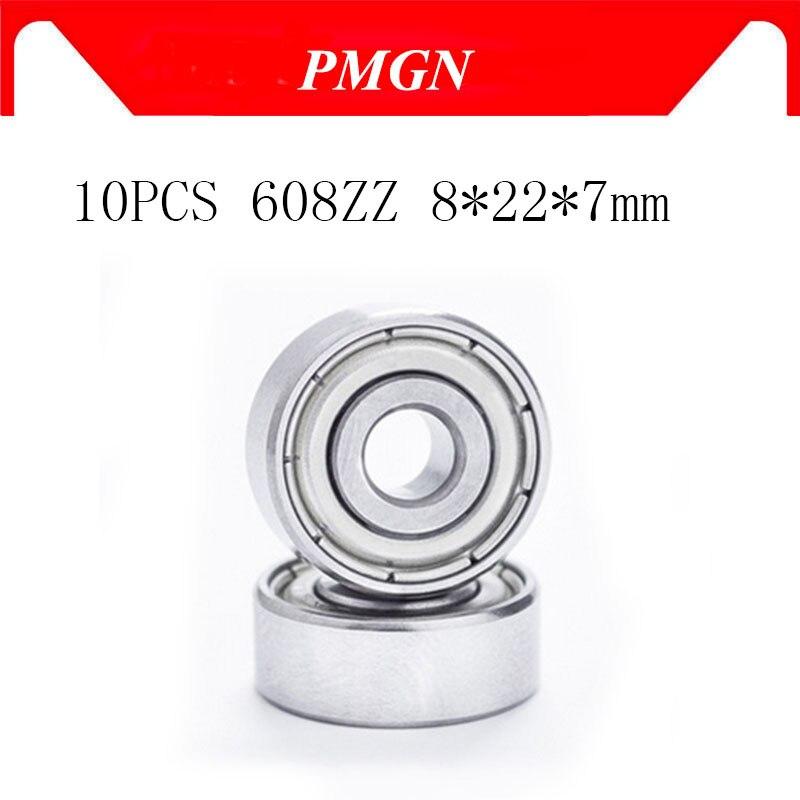 High quality 10pcs ABEC-5 608ZZ Deep groove ball bearing 608 ball Bearing 608 2Z metal Sealed 608 60