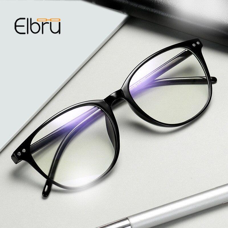Elbru -1 -1.5 -2 -2.5 -3 -3.5 -4 -4.5 -5.0 -5.5 -6.0 Classic Rivets Myopia Glasses With Degree Women Men Black Glasses Frame