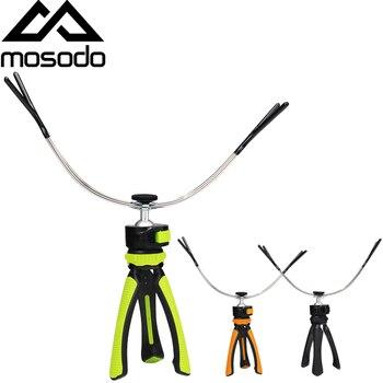 Soporte de caña de pescar de altura de hielo Mosodo, soporte de palo retráctil ajustable, soporte plegable, soporte de caña de pescar para mar de hielo
