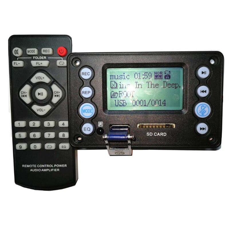 DC5V Audio Input Radio Recording Letters Display 4.2 Bluetooth Mono FLAC AMM WAV Audio MP3 Decoder Board