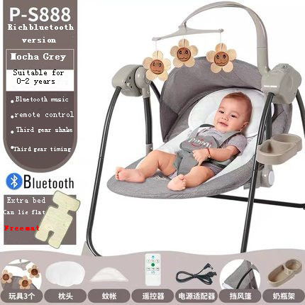 Baby Electric Rocking Chair, Multi-function Music, Vibration, Pacification, Cradle Bed, Sleeping Artifact Rocking Horse
