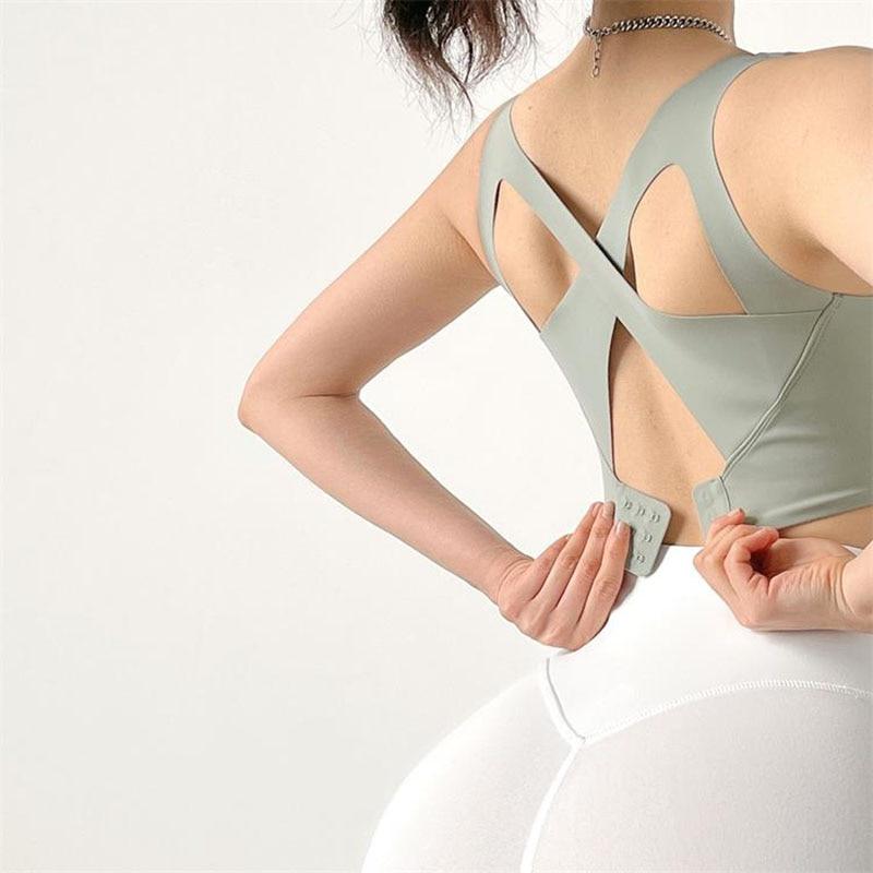 High Support Adjust Sports Bra Women Yoga Crop Top Shockproof Underwear Fitness Bras Athletic Vest Gym Shirt Sport Sportswear Sport9s