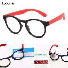 Light-Glasses Optical-Frame TR90 Eyewear Computer Anti-Blue Girls Kids Flexible for Boys