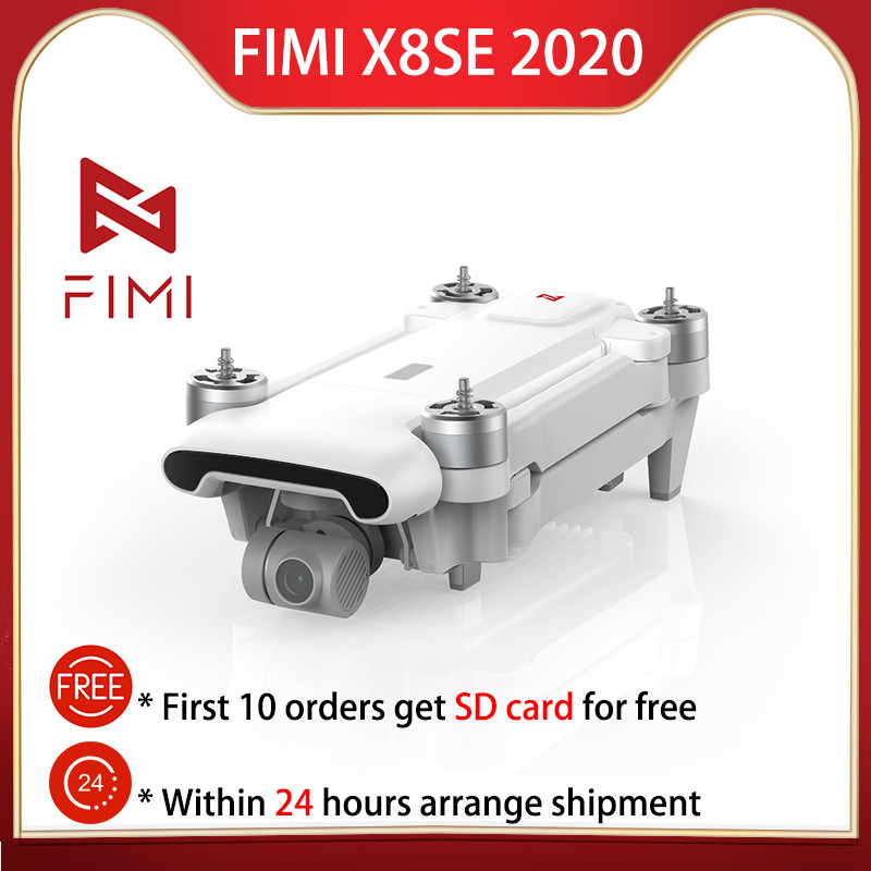 In stock FIMI X8SE 2020 version Camera drone 4K drone with camera RC Helicopter 8KM FPV 3-axis Gimbal 24 hours to ship