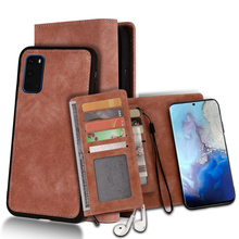 For Samsung Galaxy S20 Plus S20 A71 A51 Case PU Leather Wallet Case Detachable Magnetic Flip Cover For Samsung S20 Ultra Case