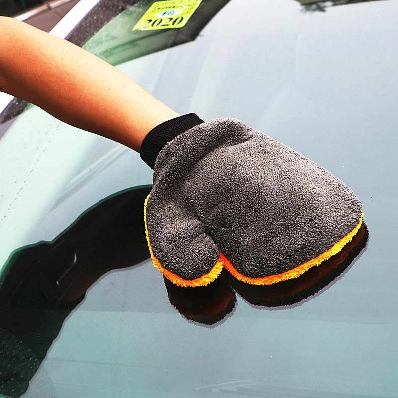 1 Pc Microfiber Washandjes Car Cleaning Wassen Gereedschap Auto Care Wateropname Auto-Styling Pluche Auto Accessoires Stof cleaner