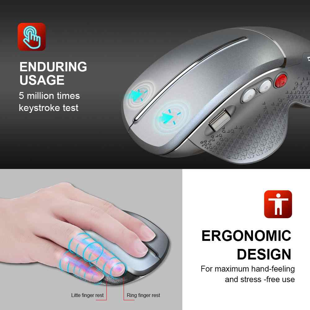 Beesclover 2.4G Hz Nirkabel Gamer Mouse Hemat Daya Ergonomis Optik USB Gaming Mouse untuk Laptop PC