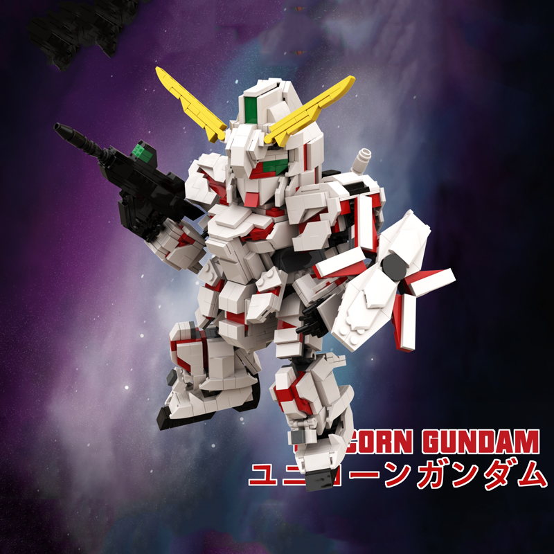 Original 1195 + Pcs DIY Model SD UNICORN GUNDAM RX-0 Building Blocks Harmless Bricks Enlighten Compatible Toy For Kids