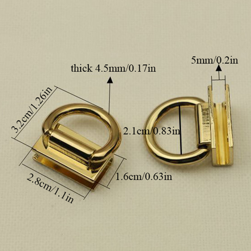 4 Colors Clasp For Bags Handbag Button Metal Connector Ring Cross Body Shoulder Bag Chain Lock Clasps For Bag Parts Accessories