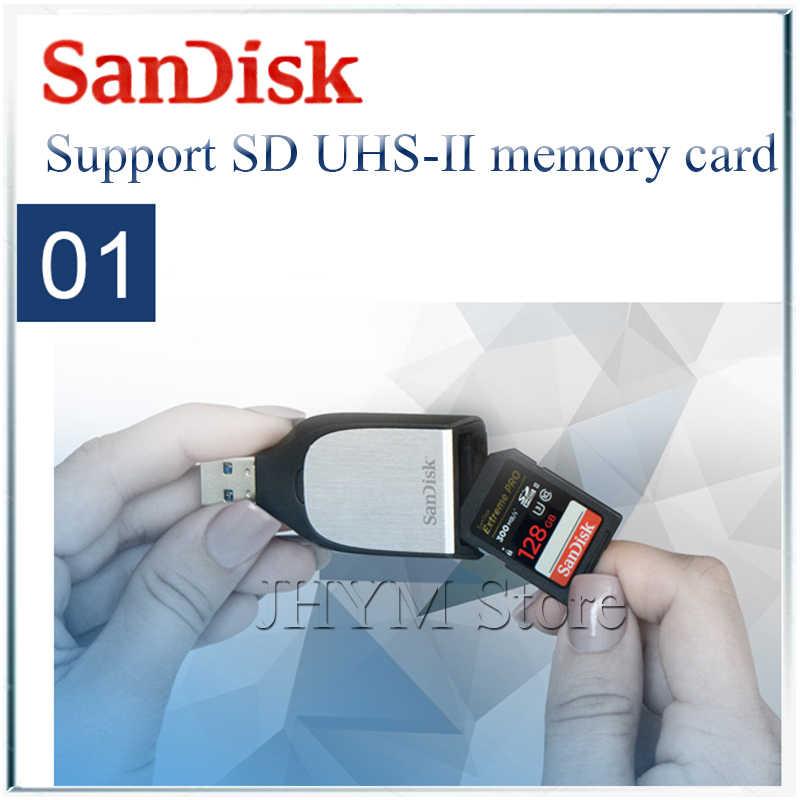 Sandisk extreme pro lecteur de carte SD USB 3.0 graveur accessoires d'ordinateur portable UHS-II USB3.0 lecteur de carte à puce lector de tarjeta cardreade