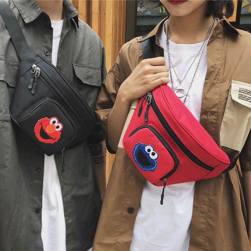 Women's Waist Bag Chest Bag Men Sesame Street Shoulder Bag Hip Hop Young Banana Bags Fanny Pack Multifunction Kidney Sports Bag