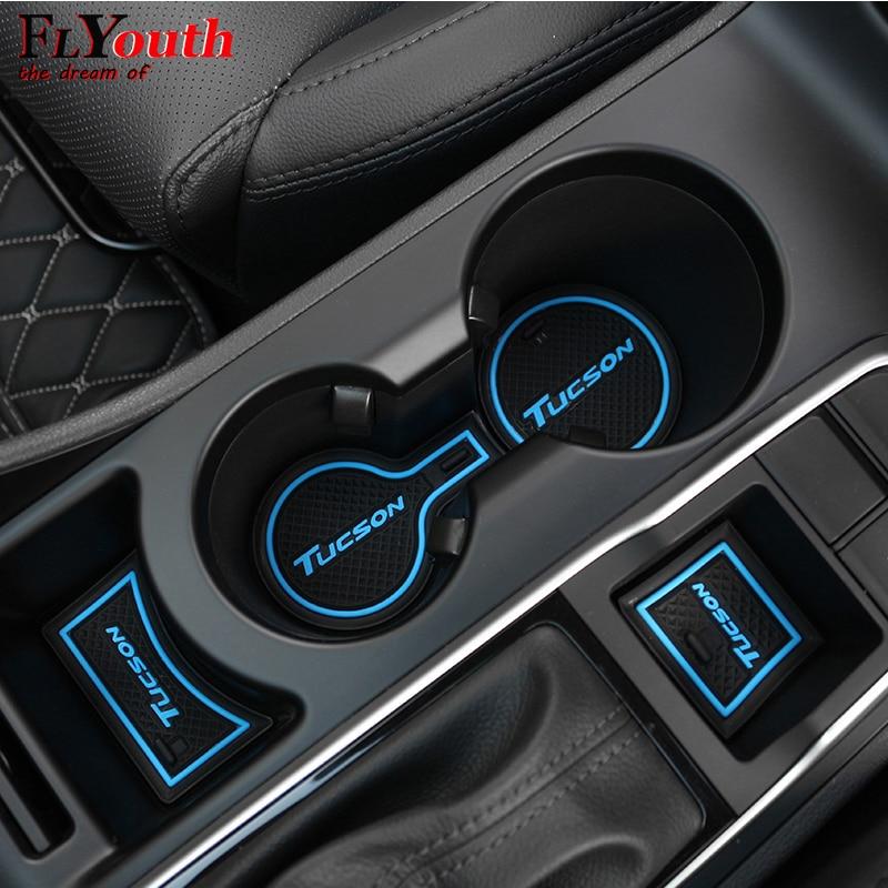 Резиновый коврик для паза двери автомобиля для Hyundai Tucson 2016, 2017, 2018, 2019, противоскользящая накладка, украшение интерьера, автомобильный Стайли...