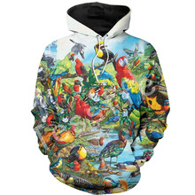 Tessffel Animal parrot Harajuku MenWomen HipHop 3Dfull Printed Sweatshirts/Hoodie/shirts/Jacket  Casual fit colorful camo Style5