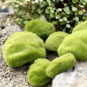 Image 2 - 시뮬레이션 이끼 거짓 녹색 돌 바위 이끼 공장 미니어처 사진 촬영 배경 장식품 사진 스튜디오 액세서리