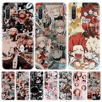 Mi héroe Academia Manga funda de teléfono para Xiaomi Redmi Note 10 9 9S 8 8T 7 9A 9C 8A 7 7A 6A S2 K20 K30 Pro de la cubierta a la moda de la Capa